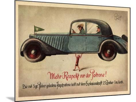 Künstler Jagd, 3Gr Pulver Jagdpatrone, Automobil--Mounted Giclee Print
