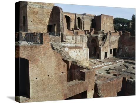 Flavian Palace, also known as Domus Flavia on Palatine Hill, Rome, Lazio, Italy Ad--Stretched Canvas Print