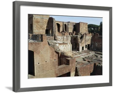 Flavian Palace, also known as Domus Flavia on Palatine Hill, Rome, Lazio, Italy Ad--Framed Art Print