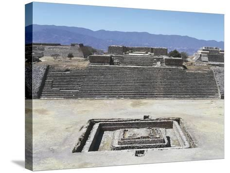 Mexico, Oaxaca State, Building H in Gran Plaza at Monte Alban Archaeological Site--Stretched Canvas Print