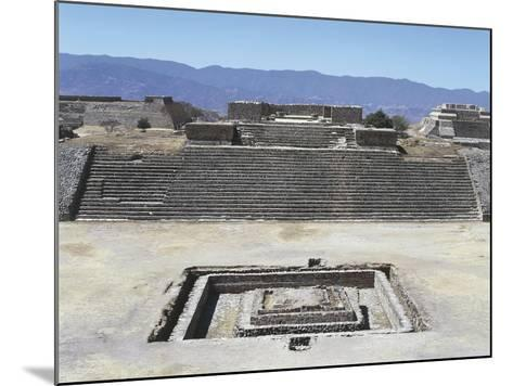 Mexico, Oaxaca State, Building H in Gran Plaza at Monte Alban Archaeological Site--Mounted Giclee Print