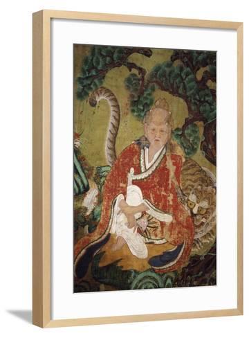 Sansin, Spirit of the Mountain, Colours on Silk--Framed Art Print