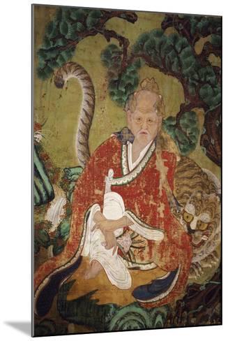 Sansin, Spirit of the Mountain, Colours on Silk--Mounted Giclee Print