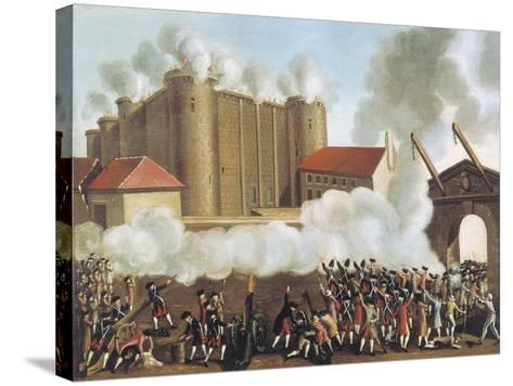 Storming of Bastille, July 14, 1789, French Revolution, France--Stretched Canvas Print
