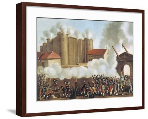 Storming of Bastille, July 14, 1789, French Revolution, France--Framed Art Print