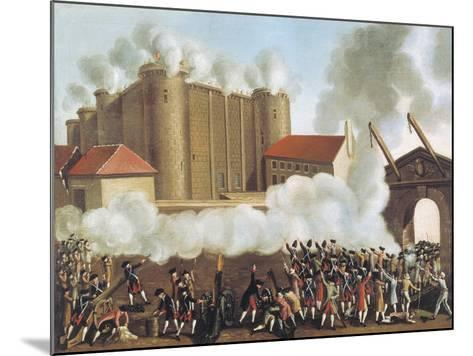 Storming of Bastille, July 14, 1789, French Revolution, France--Mounted Giclee Print