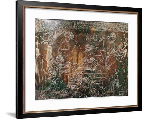 Ficoroni Cista, Detail of Argos's Ship--Framed Art Print