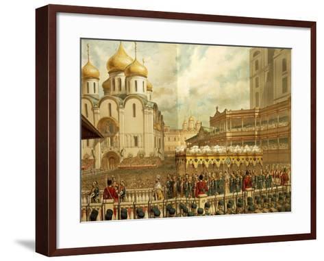 Feast for Tsar Nicholas Ii Romanov's Coronation--Framed Art Print