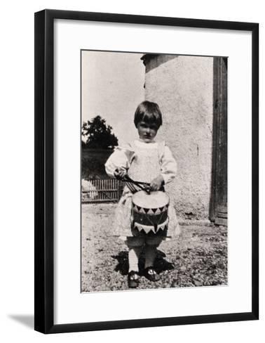 Portrait of Young Carl Orff, German Composer--Framed Art Print