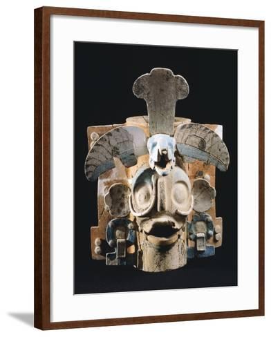 Terracotta Incense Burner, Used by Mayans to Burn the Copale to their Gods--Framed Art Print