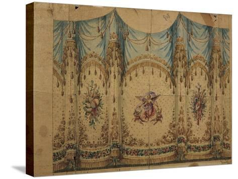 Italy, Venice, Curtain Decoration Design--Stretched Canvas Print