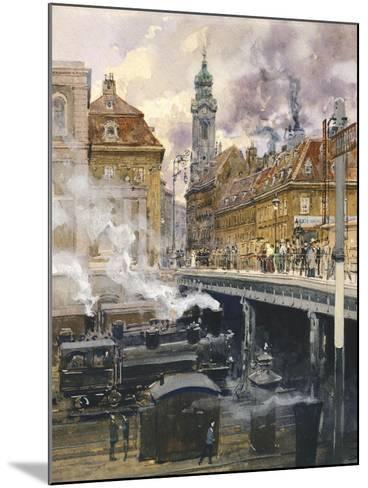 The Hauptstrasse in Vienna, Austria 20th Century--Mounted Giclee Print