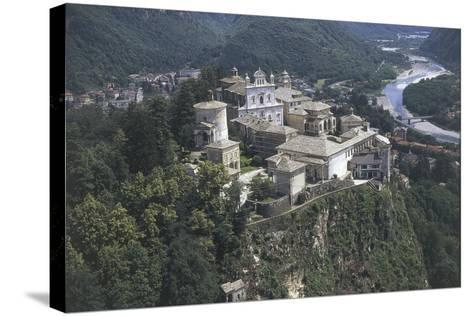 Italy, Piedmont Region, Varallo, Sacro Monte, Aerial View--Stretched Canvas Print