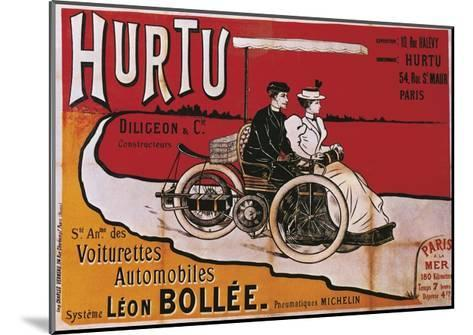 Hurtu Voiturettes Automobiles System Leon Bollee, Advertisement for Cars, Poster--Mounted Giclee Print