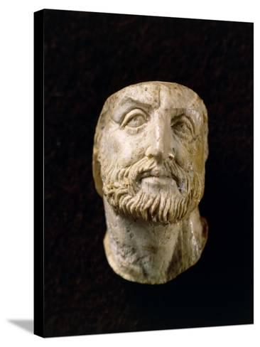 Ivory Head of Philip II of Macedonia, from Tomb of Vergina, Greece--Stretched Canvas Print