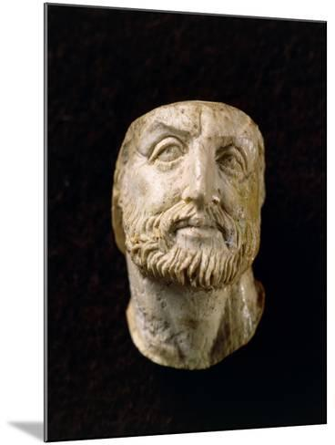 Ivory Head of Philip II of Macedonia, from Tomb of Vergina, Greece--Mounted Giclee Print