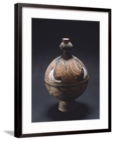 Pyx, Canosa Red Figure Pottery from Portagioie, Apulia, Italy--Framed Art Print