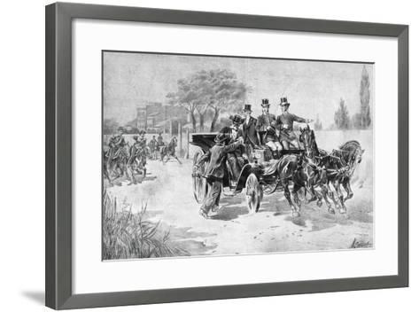 Anarchist Gaetano Bresci in Monza, Striking King Umberto I to Death, July 29, 1900, Italy--Framed Art Print