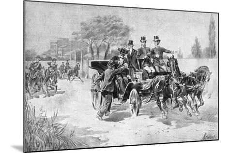 Anarchist Gaetano Bresci in Monza, Striking King Umberto I to Death, July 29, 1900, Italy--Mounted Giclee Print