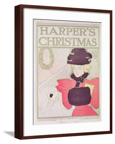 Cover for Harper's Magazine, Christmas Issue--Framed Art Print