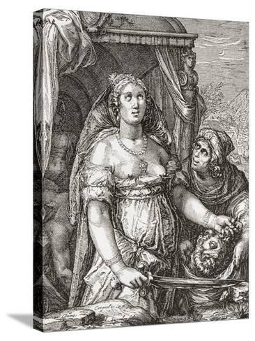 Judith Beheading the Assyrian General Holofernes--Stretched Canvas Print