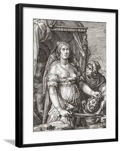 Judith Beheading the Assyrian General Holofernes--Framed Art Print