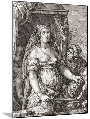 Judith Beheading the Assyrian General Holofernes--Mounted Giclee Print