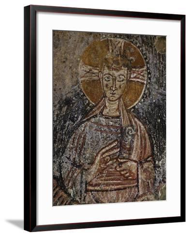 Jesus Christ, 11th Century Fresco, Cave of Saints, Calvi, Campania, Italy--Framed Art Print