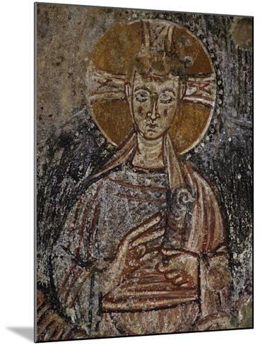 Jesus Christ, 11th Century Fresco, Cave of Saints, Calvi, Campania, Italy--Mounted Giclee Print