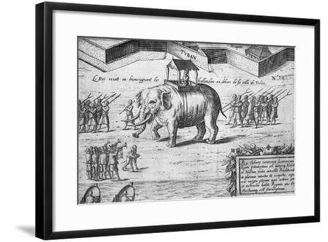 The King of the Moluccas Receives the Dutch--Framed Art Print