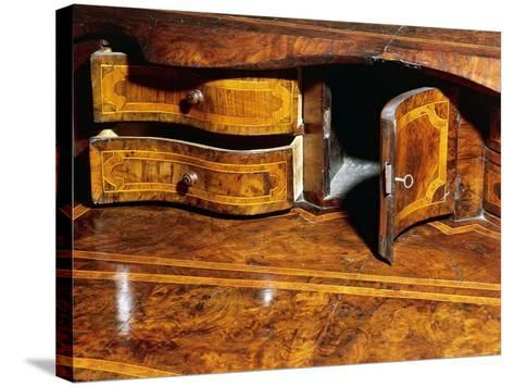 Louis XIV Style Walnut Marche Chest of Drawers with Drop Leaf, Italy, Detail--Stretched Canvas Print