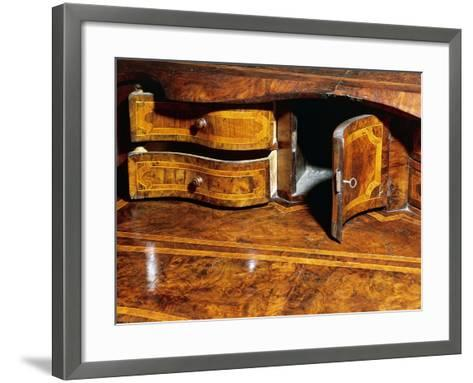 Louis XIV Style Walnut Marche Chest of Drawers with Drop Leaf, Italy, Detail--Framed Art Print