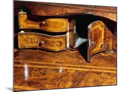 Louis XIV Style Walnut Marche Chest of Drawers with Drop Leaf, Italy, Detail--Mounted Giclee Print