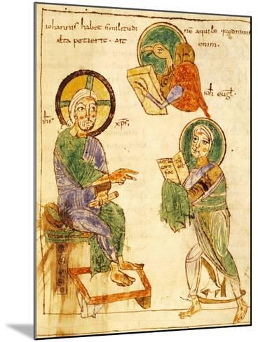 Saint John the Evangelist, Miniature from a Gospels, Latin Manuscript, 8th Century--Mounted Giclee Print