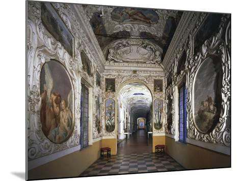 Glimpse of Hall and Poets' Gallery, Rocca Meli-Lupi of Soragna, Near Parma, Emilia-Romagna, Italy--Mounted Giclee Print
