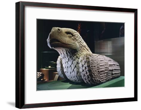 Eagle-Cuauhxicalli for Sacrificial Offerings, Andesite Statue--Framed Art Print