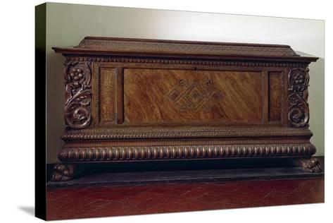 Renaissance Wedding Chest with Columns and Carved Lower Band, Italy, 16th Century--Stretched Canvas Print