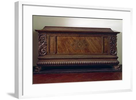 Renaissance Wedding Chest with Columns and Carved Lower Band, Italy, 16th Century--Framed Art Print