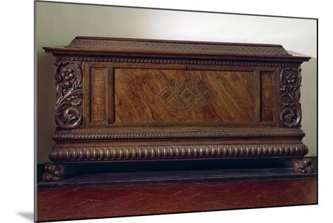 Renaissance Wedding Chest with Columns and Carved Lower Band, Italy, 16th Century--Mounted Giclee Print