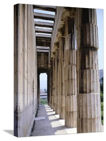 Colonnade of Hephaisteion Temple in Agora in Athens, Greece, 5th Century BC--Stretched Canvas Print
