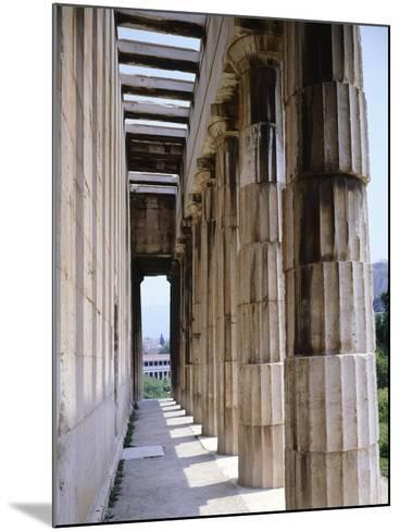 Colonnade of Hephaisteion Temple in Agora in Athens, Greece, 5th Century BC--Mounted Giclee Print