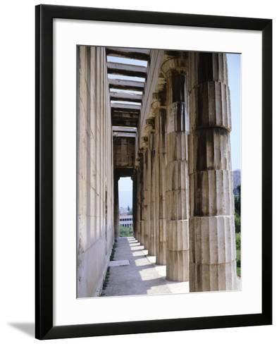 Colonnade of Hephaisteion Temple in Agora in Athens, Greece, 5th Century BC--Framed Art Print