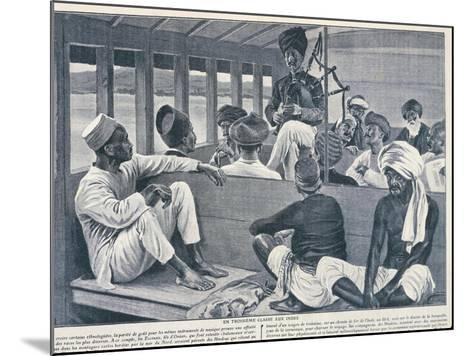 India, Sikh Playing Scottish Bagpipes in Third-Class Train Carriage from Journal Des Voyages, 1909--Mounted Giclee Print