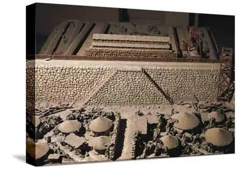Roman Civilization, Plastic Model of Roman Encampment--Stretched Canvas Print