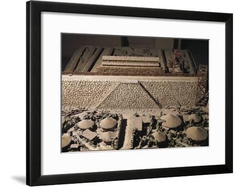 Roman Civilization, Plastic Model of Roman Encampment--Framed Art Print