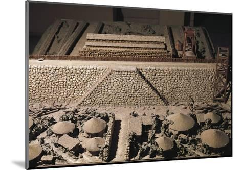 Roman Civilization, Plastic Model of Roman Encampment--Mounted Giclee Print