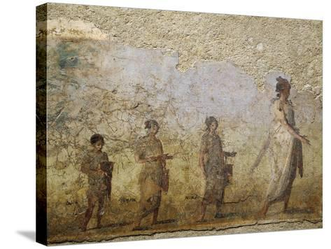 Funerary Fresco of Doctor Patron, from Porta Capena at Rome--Stretched Canvas Print