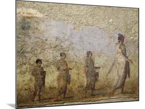 Funerary Fresco of Doctor Patron, from Porta Capena at Rome--Mounted Giclee Print