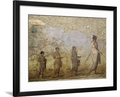 Funerary Fresco of Doctor Patron, from Porta Capena at Rome--Framed Art Print