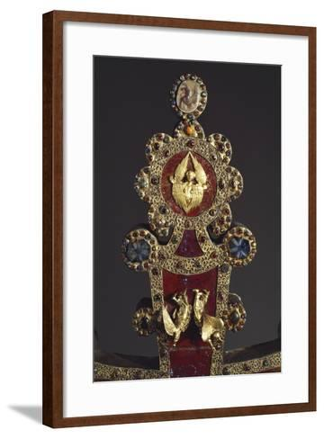 Processional Cross in Red Jasper, Gold and Gems, Angels, 1296--Framed Art Print